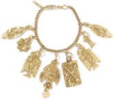 Chloé Hammered Gold-tone Charm Bracelet