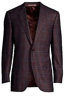Canali Men's Woven Plaid Sports Jacket