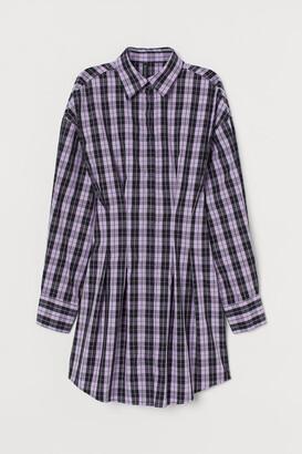 H&M Cotton Shirt Dress - Purple