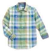 Tucker Boy's + Tate 'Photo' Buffalo Plaid Woven Shirt