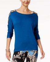 Thalia Sodi Lattice-Detail Top, Created for Macy's