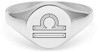 Myia Bonner Libra Signet Ring In Sterling Silver