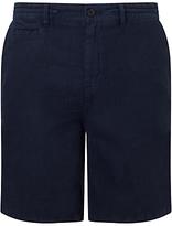 Hugo Boss Boss Orange Siman Linen Shorts, Dark Blue