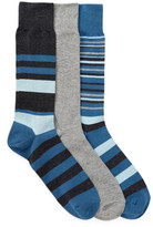 Cole Haan 3-Pair Town Stripe Socks