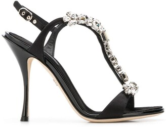 Dolce & Gabbana crystal embellished sandals