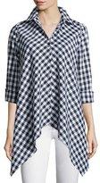Go Silk Drama Gingham Handkerchief Shirt, Petite