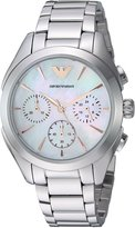 Emporio Armani Women's Quartz Stainless Steel Dress Watch, Color:Silver-Toned