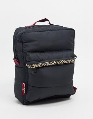 Levi's mini logo backpack in black