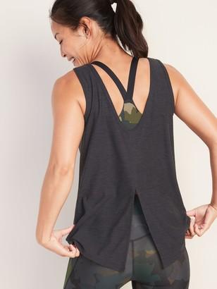 Old Navy Breathe ON Scoop-Back Tie-Back Tank for Women