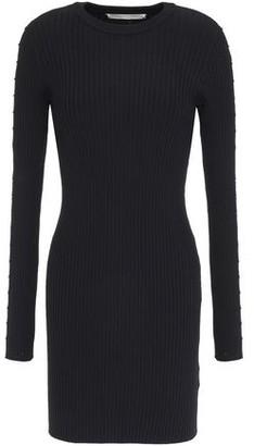 Jonathan Simkhai Embellished Cutout Ribbed-knit Mini Dress