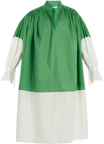 Vika Gazinskaya Bi-colour cotton-poplin dress