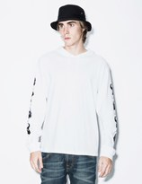 PAM White Anubian L/S Hooded T-Shirt