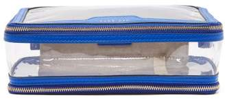 Anya Hindmarch In-flight Leather And Pvc Travel Bag - Womens - Blue