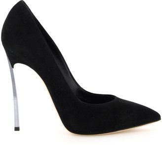 Casadei SUEDE BLADE 100 PUMPS 40 Black Leather