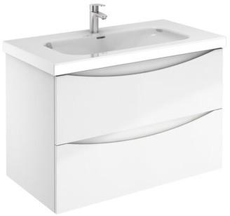 "Corrigan Studio Brillion Love 2 Drawer 36"" Wall-Mounted Single Bathroom Vanity Set"
