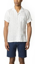 Todd Snyder Short Sleeve Camp Collar Polka Dot Shirt