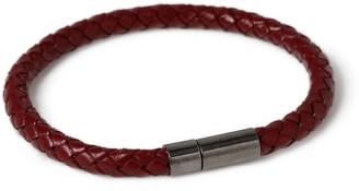 Topman Burgundy Leather Bracelet*