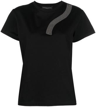 Fabiana Filippi metallic-trim T-shirt