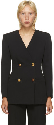 Versace Black Double Breasted Blazer Dress