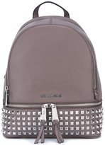 MICHAEL Michael Kors 'Rhea' studded backpack - women - Calf Leather - One Size