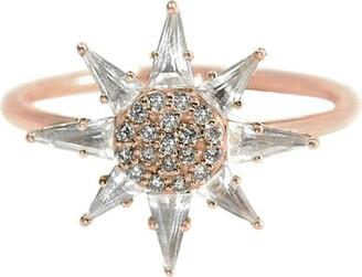 BONDEYE JEWELRY 14kt rose gold diamond Clio ring