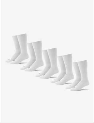 Tommy John Men's Go Anywhere Sock 5 Pack, Black