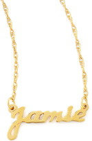 Moon and Lola Personalized Gold Name Pendant Necklace