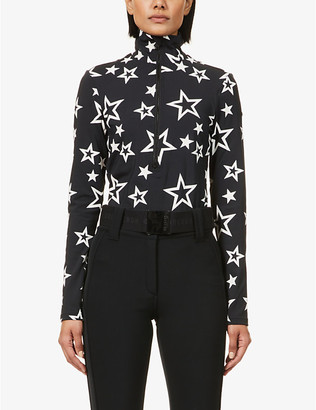 Goldbergh Clarisse star-print stretch-woven top