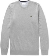 Lacoste Slim-Fit Knitted Cotton Sweater