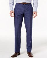 Nautica Men's Slim-Fit Blue Glen Plaid Dress Pants
