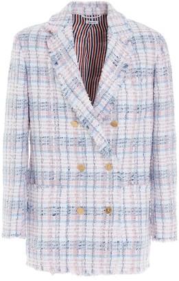 Thom Browne Tweed Double Breasted Blazer