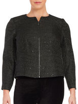 Calvin Klein Plus Sequined Tweed Blazer