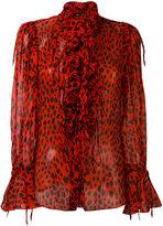 Roberto Cavalli dalmatian print blouse - women - Silk - 40