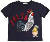 Dolce & Gabbana Rooster Printed Cotton Jersey T-Shirt