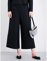Issey Miyake Cosmic wide cropped high-rise pleated culottes