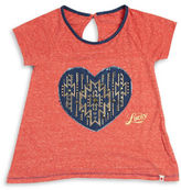 Lucky Brand Girls 7-16 Denim Heart Tee