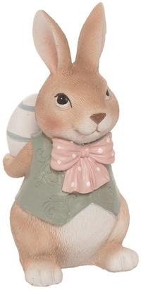 Transpac Resin 6 in. Brown Easter Fancy Bunny Figurine