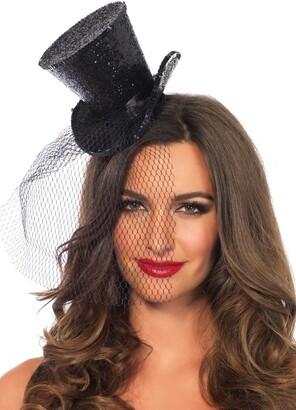 Leg Avenue Mini Top Hat with Veil