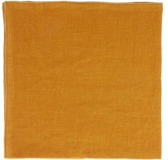 Once Milano - Set Of Four Linen Napkins - Yellow