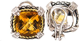 Candela Andrea Alhambra 18K & Silver 10.32 Ct. Tw. Diamond & Citrine Earrings