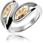 KnSam Women Plate Wedding Bands Promise Rings Wheat Shape Size 8 [Novelty Rings]