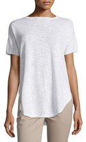 Eileen Fisher Short-Sleeve Organic Slub Top