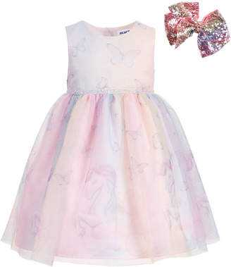 Blueberi Boulevard Little Girls Unicorn & Butterfly Dress