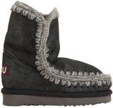 Mou Metallic Shearling Boots