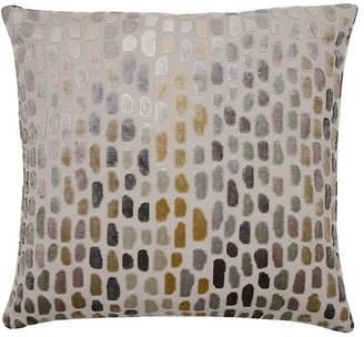 The Piper Collection Jane 22x22 Pillow - Metallic Spot Velvet