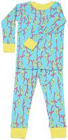 New Jammies Teal & Yellow Seahorses Organic Pajama Set - Infant Kids & Tween