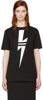 Neil Barrett Black Double Stripe Thunderbolt T-Shirt