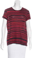 Proenza Schouler Striped Scoop Neck T-Shirt