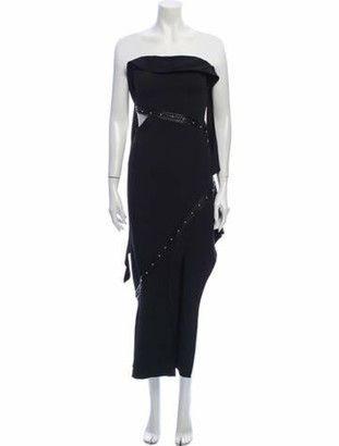 Jonathan Simkhai Strapless Midi Length Dress w/ Tags Black