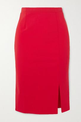 MARCIA Romantica Stretch-jersey Pencil Skirt - Red
